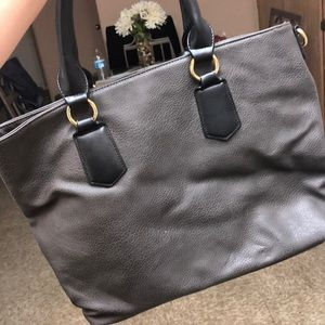 Grey/ Black handbag